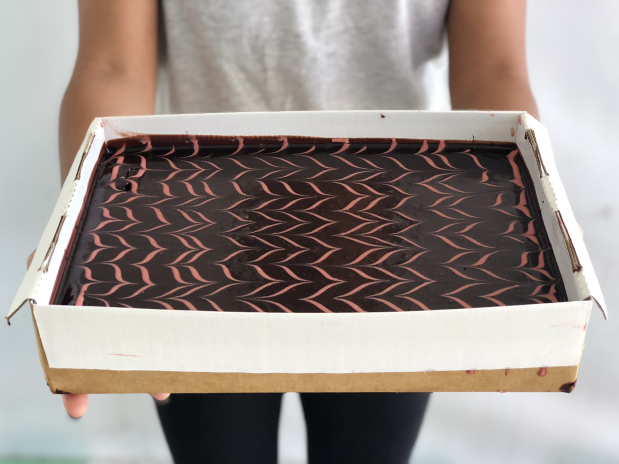 Cherry-ripe Brownie Slab