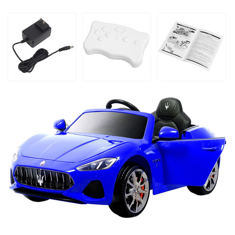 Electric Maser Car With Parental Control - Blue