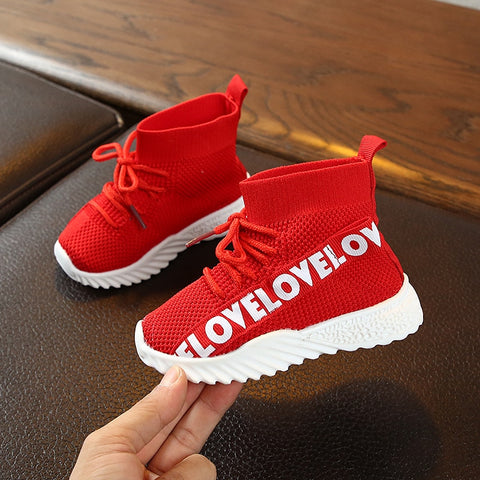 Baby High Top Sneakers - Red