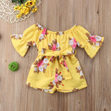 Floral Baby Dress Yellow | 6 Months-4 Years