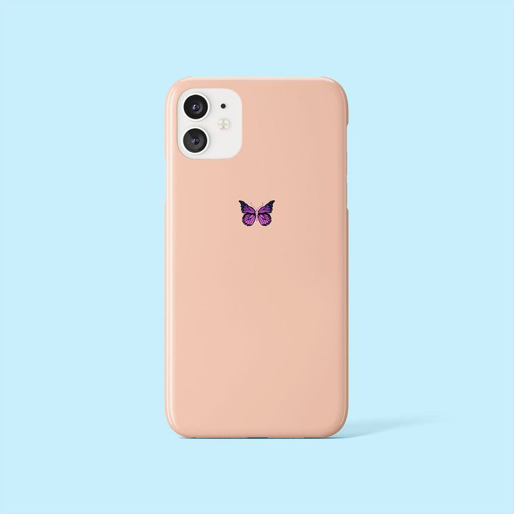 Peach Butterfly Mini Case