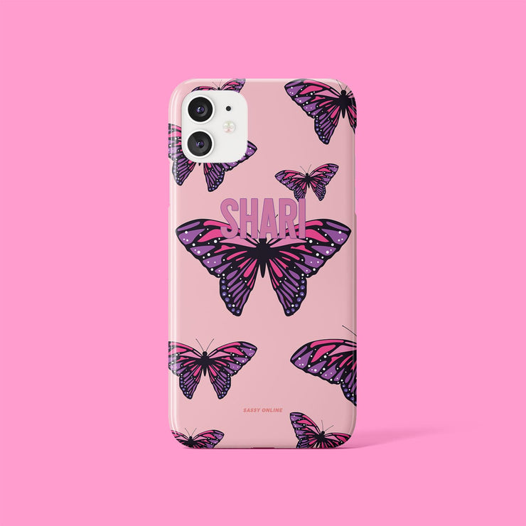 Personalised Pink Butterfly Case