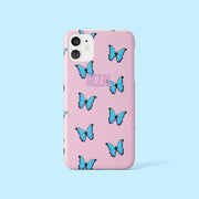 Pink Personalised Butterfly Case