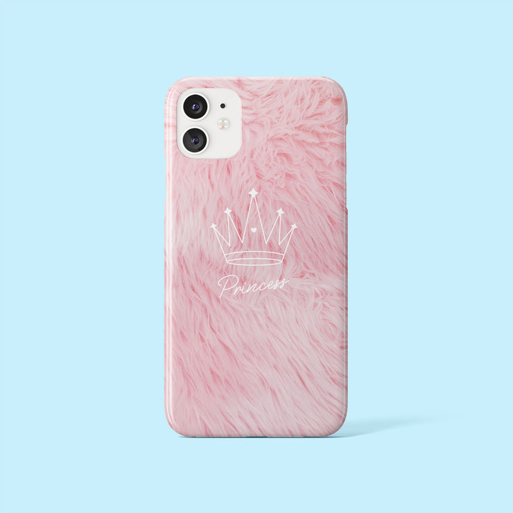 Pink Princess Fluffy Effect Case
