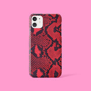 Red And Black Snakeskin Case