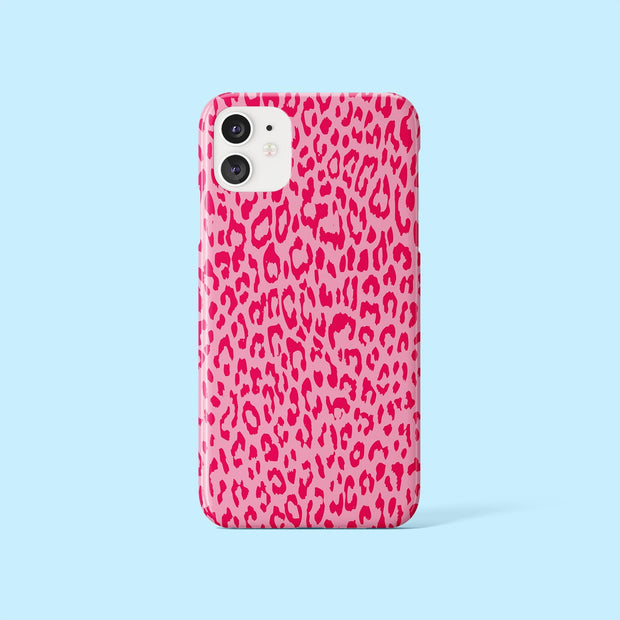 Berry Leopard Print Case