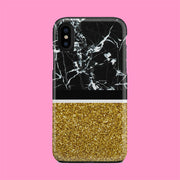 Black & Gold Marble Effect Case