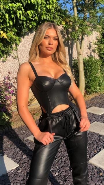 Lucia Faux Leather Corset Top