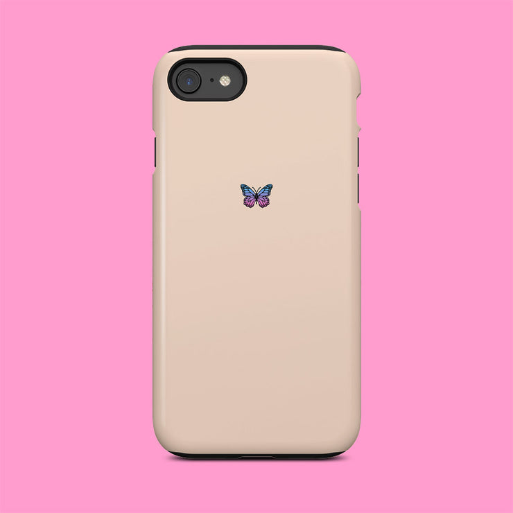 Beige Butterfly Mini Case