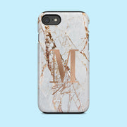 Grey and Rose Gold Marble Speckle Case