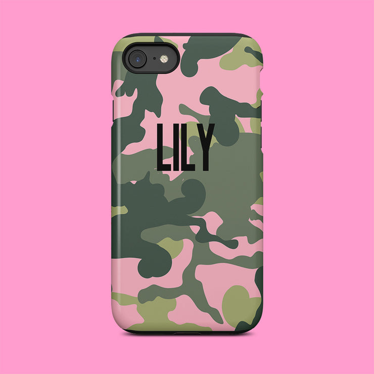 Pink And Green Camo Case