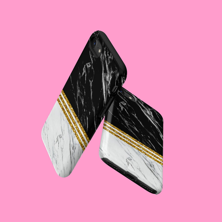 Black Geometric Marble Effect Case