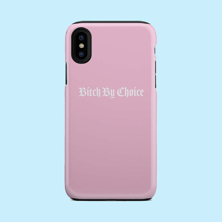 Bitch By Choice Pink Case