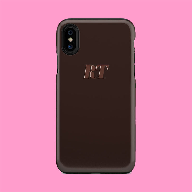 Chocolate Brown Initial Case
