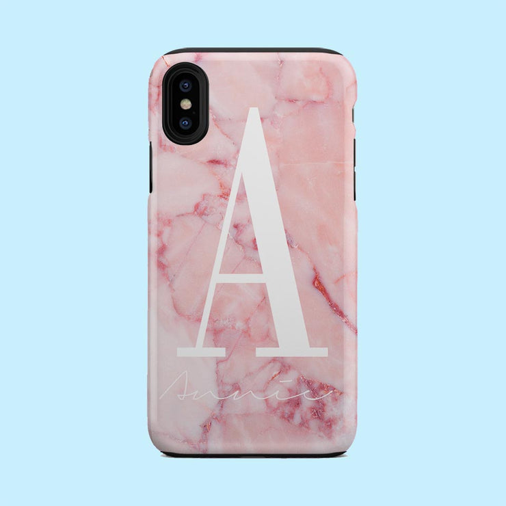 Pink Marble Stone Case