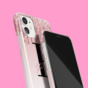 Rose & Pink Glitter Drip Signature Case