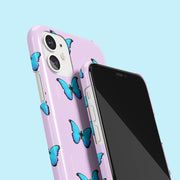 Lilac & Blue Butterfly Case