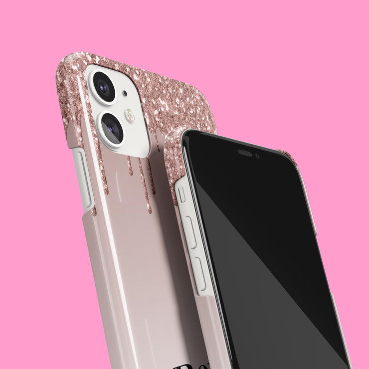 Rose Glitter Drip Crown Case
