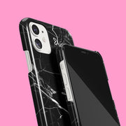 Monochrome Marble Heart Case