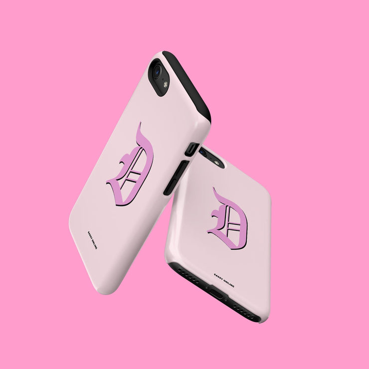 Pink Initial Case