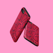 Red Snakeskin Print Case
