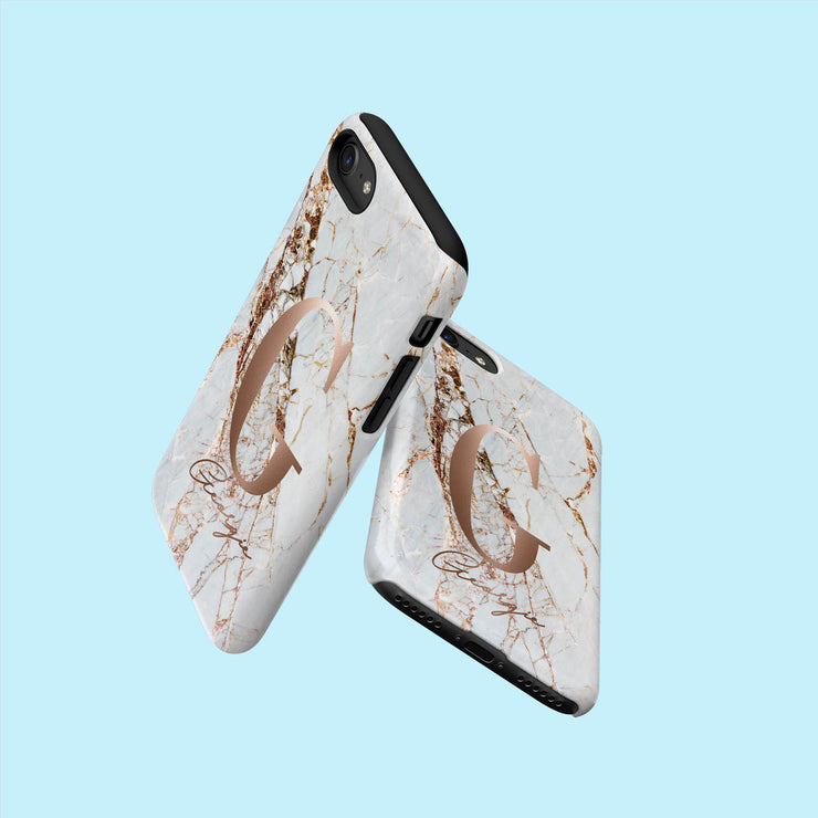 Grey and Gold Marble Speckle Case