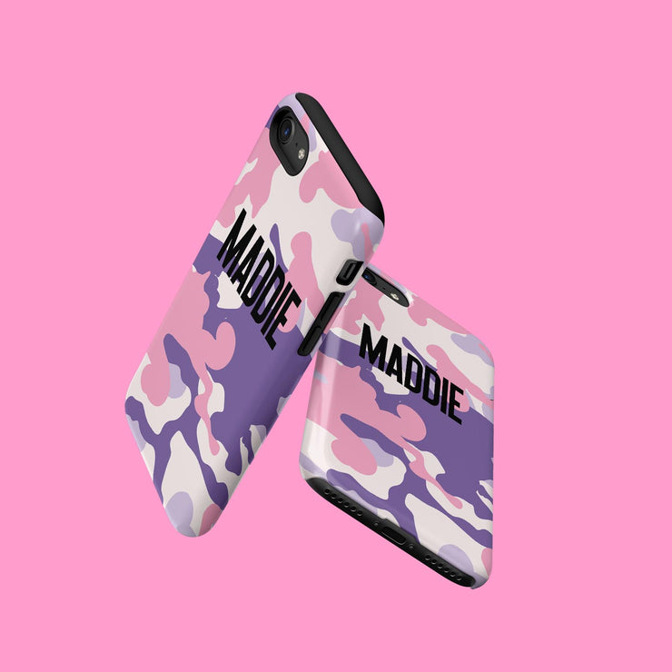 Pink And Lilac Camo Case