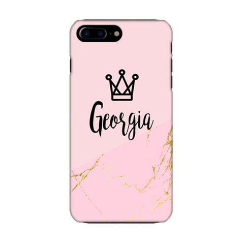 Crown Gold Marble Case