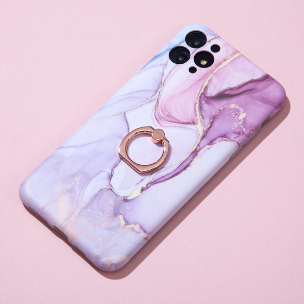 Pink Marble Ring Case