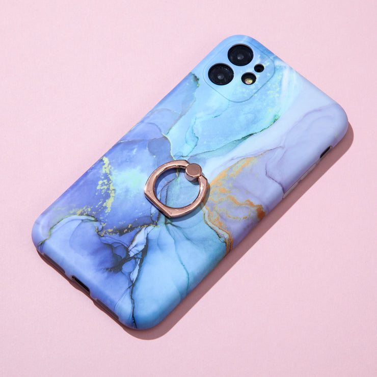 Blue Marble Ring Case