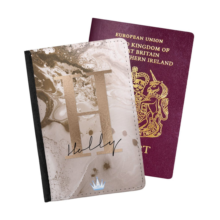 Rose Copper Signature Passport Holder