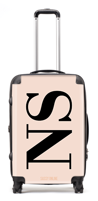 Nude and Black Suitcase