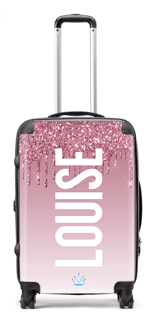 Printer Glitter Louise Suitcase