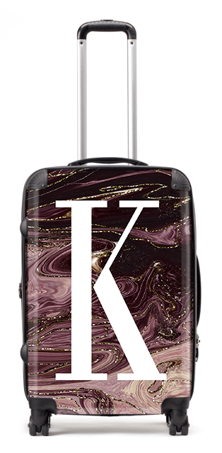 Galaxy Mauve Suitcase