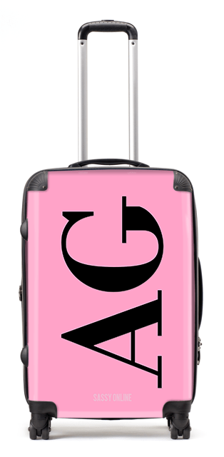 Pink and Black Suitcase