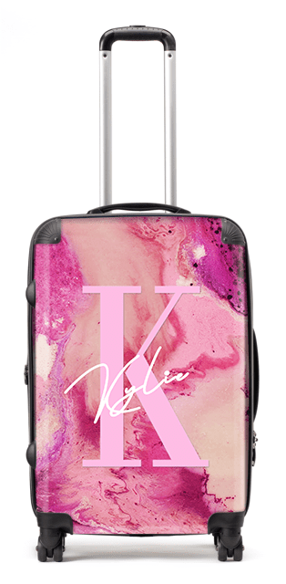 Cotton Candy Stripe Suitcase