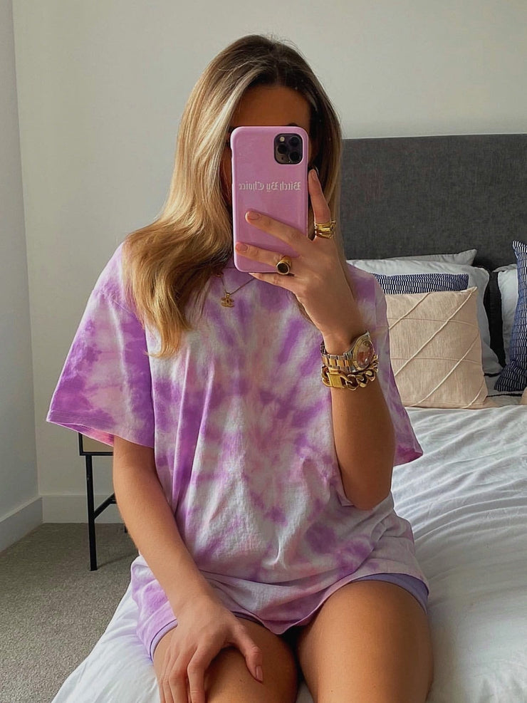 Pink & Purple Tie Dye T-shirt