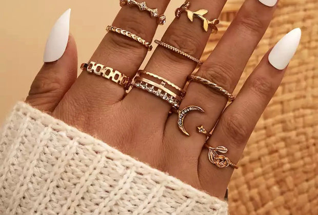 Gold Plated Stacker Rings - Ellie