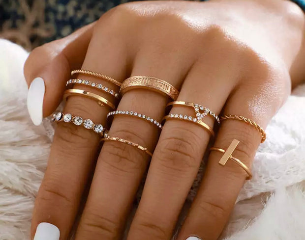 Gold Plated Stacker Rings - Erica