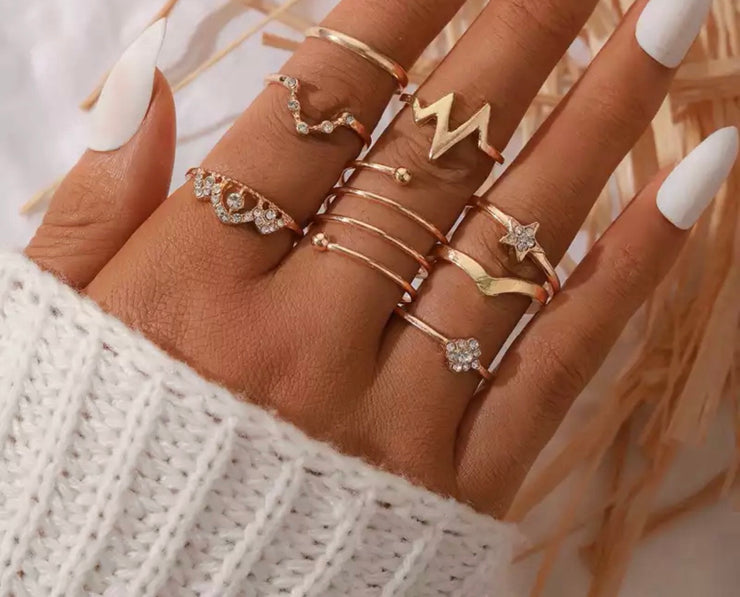 Gold Plated Stacker Rings - Emmie