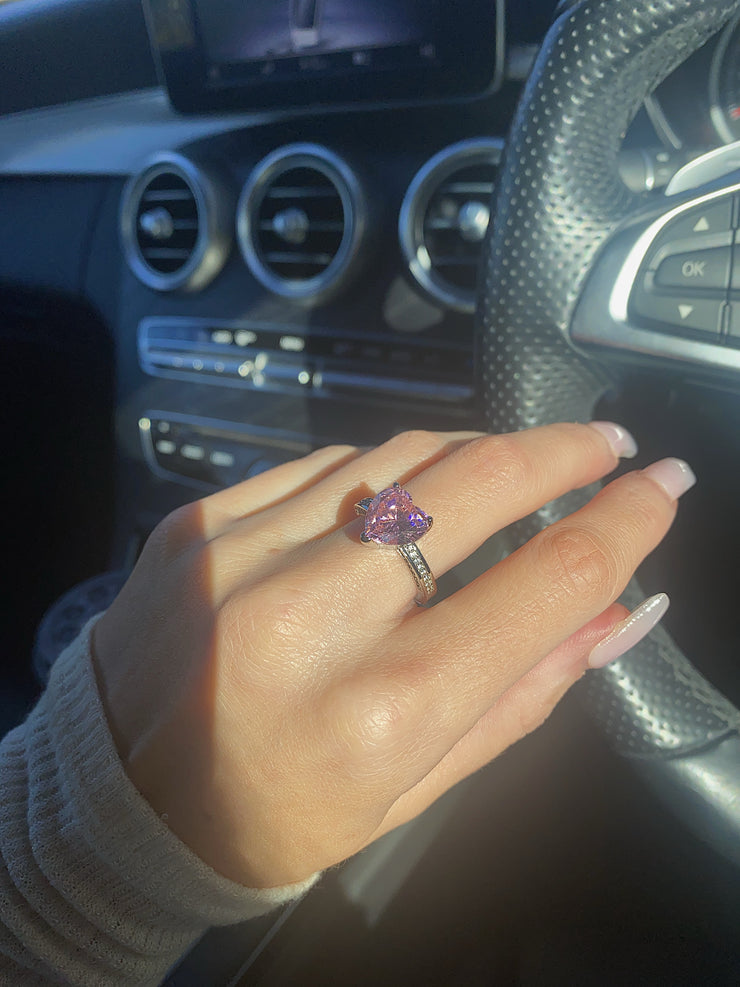 Pink Queen of Hearts Ring