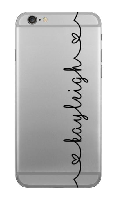 Script Heart Clear Case