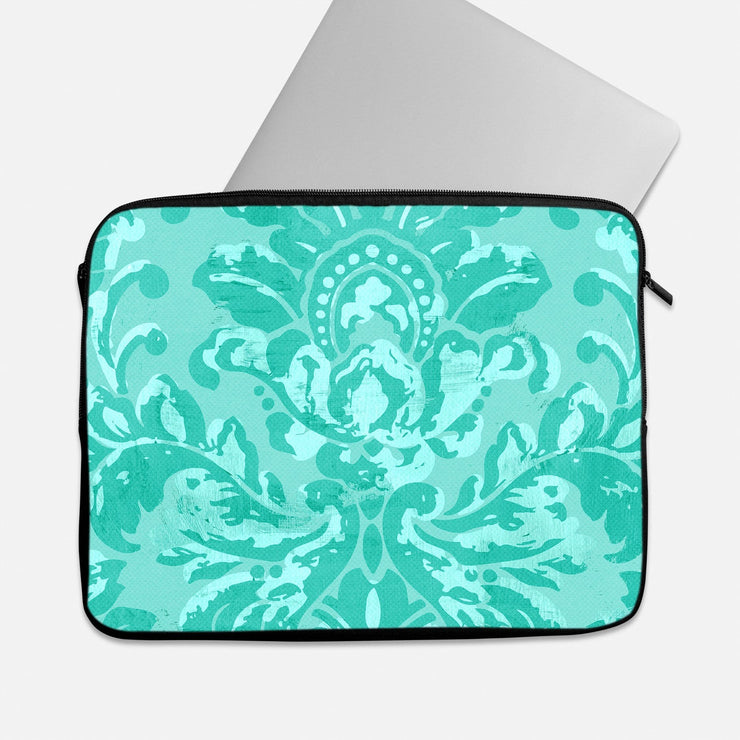 Turquoise Pattern Laptop Sleeve