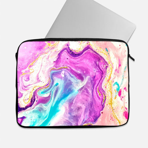 Pink & Blue Swirl Laptop Sleeve
