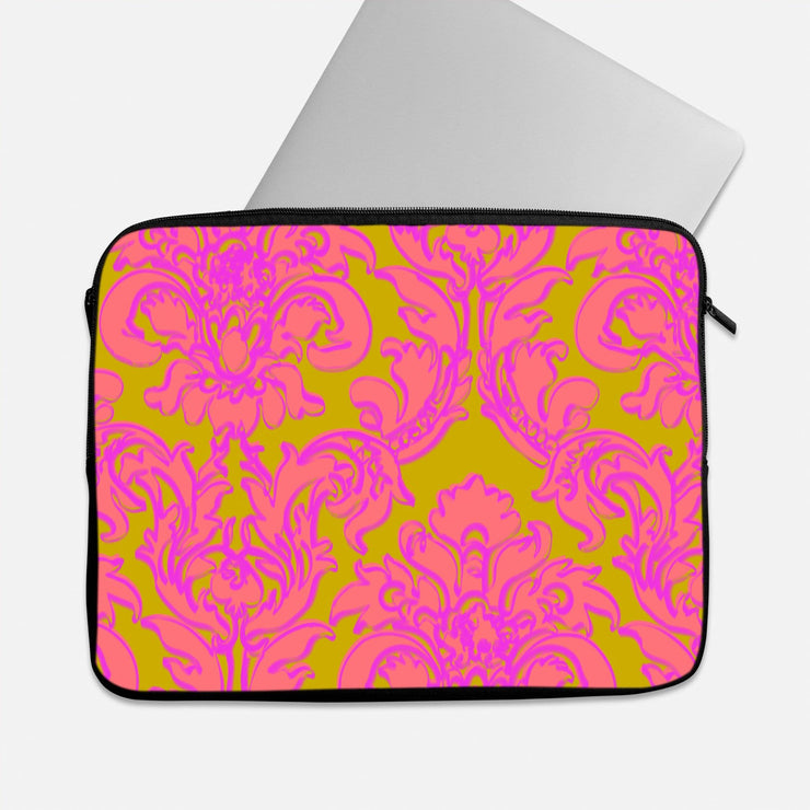 Pink & Gold Parsley Laptop Sleeve
