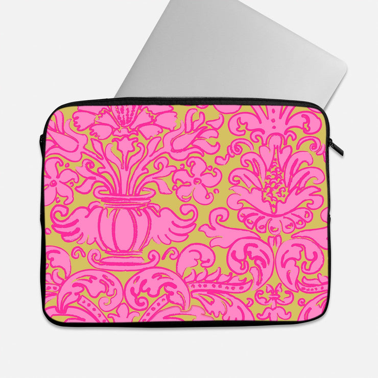 Pink & Yellow Pattern Laptop Sleeve