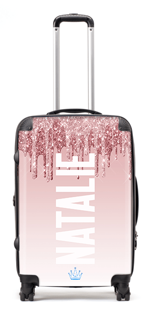 Printed Glitter Natalie Suitcase