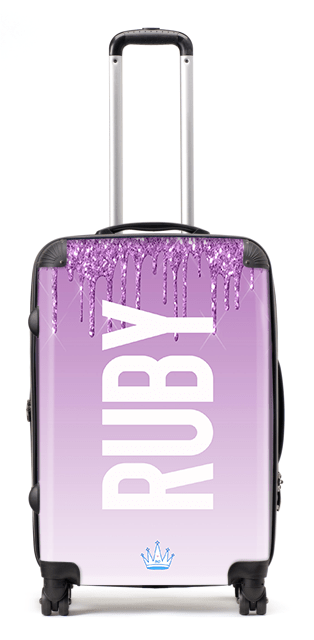 Printed Glitter Ruby Suitcase