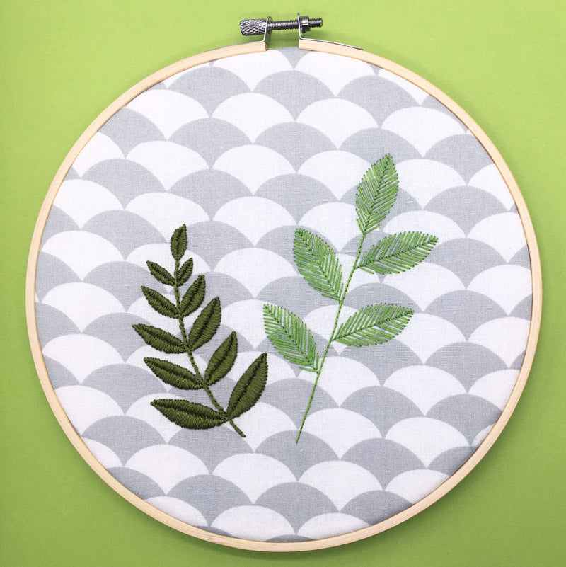 Simple Leaf Hoop
