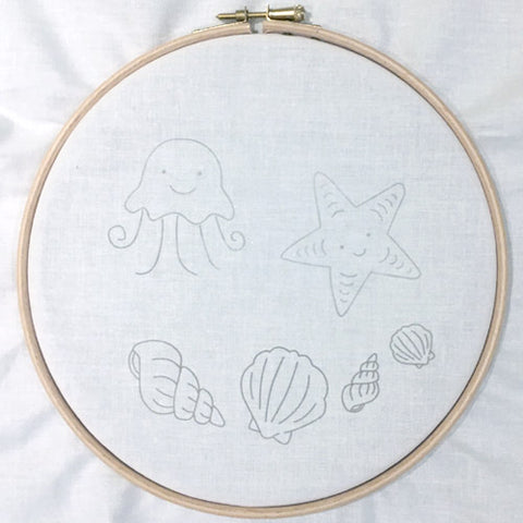 Cut out and arrange Lazy May Modern Embroidery Transfers to create your own hoop art
